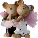 Figurine pour mariés couple souricette 13cm x 12cm