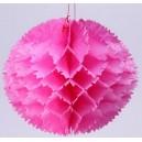 Boule festonnées en plastique imperméable fuchsia